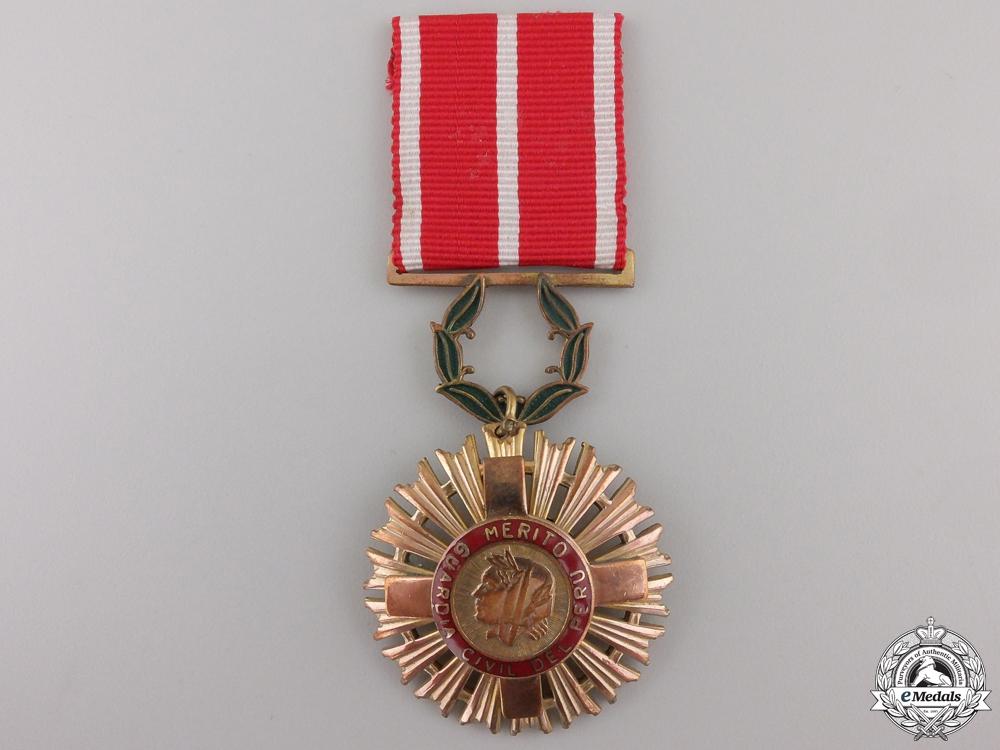 A Peruvian Civil Guard Order of Merit Medal