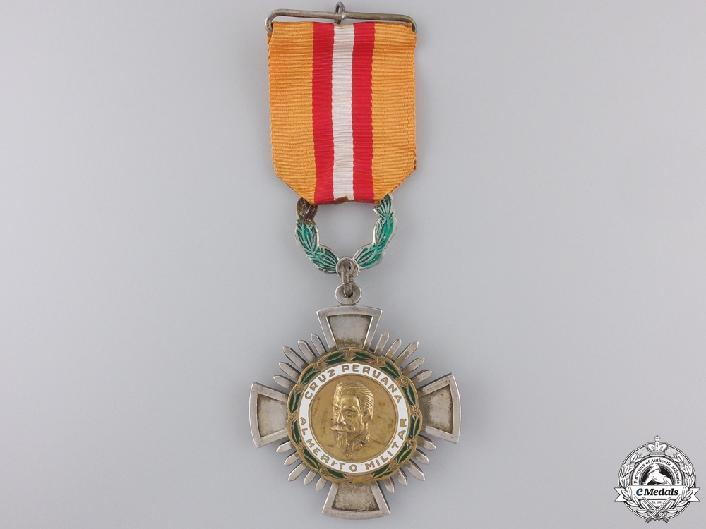 A Peruvian Cross of Military Merit; Knight