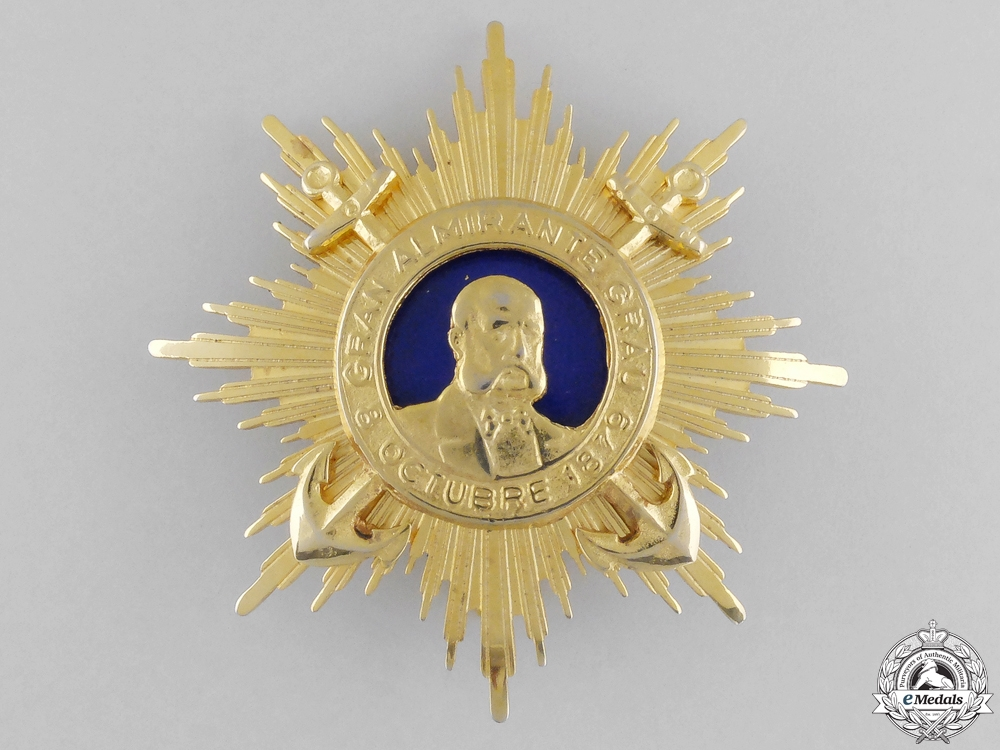 Peru. An Order of Almirante Grau, 1st Class Commander's Star