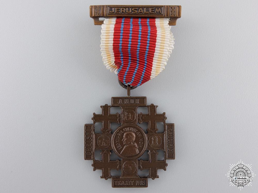 A Pilgrims Jerusalem Cross of Honour; Bronze grade