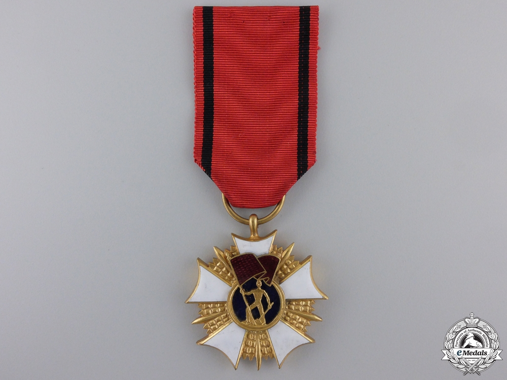 A Polish Order of the Standard of Labour; 1st Class