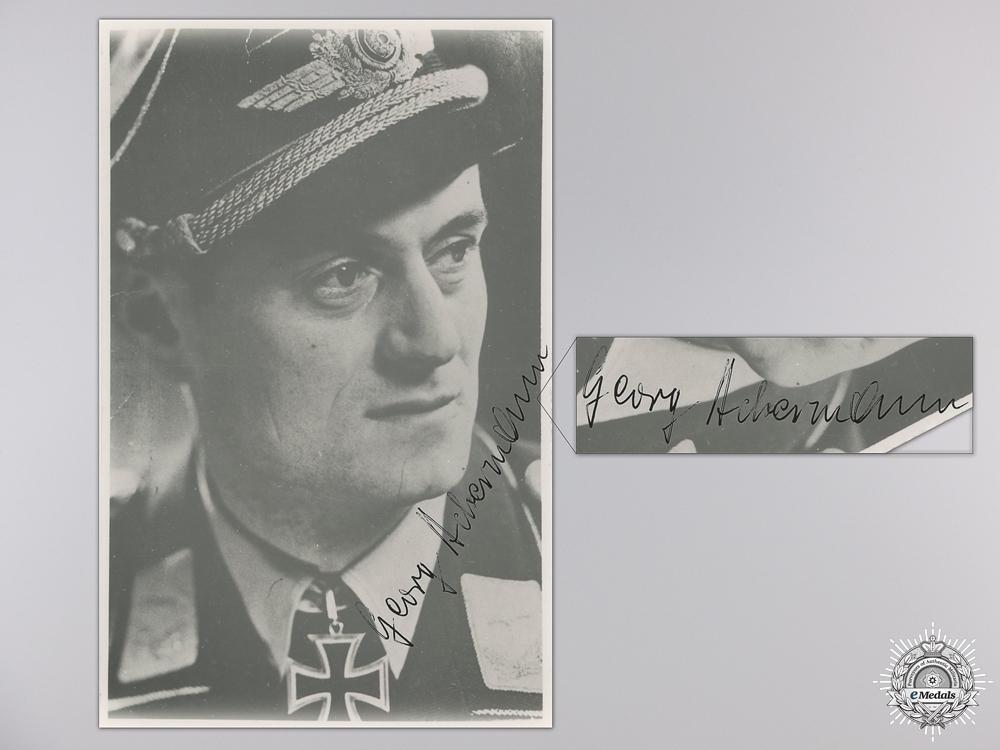 A Post War Signed Photograph of a Knight's Cross Legion Condor Recipient