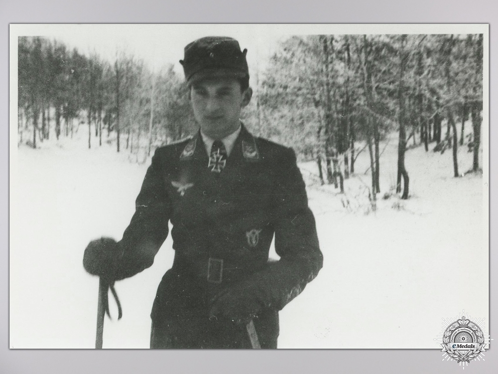 A Post War Signed Photograph of Knight's Cross Recipient; Krems