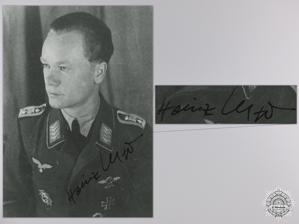 A Post War Signed Photograph of Knight's Cross Recipient; Meyer