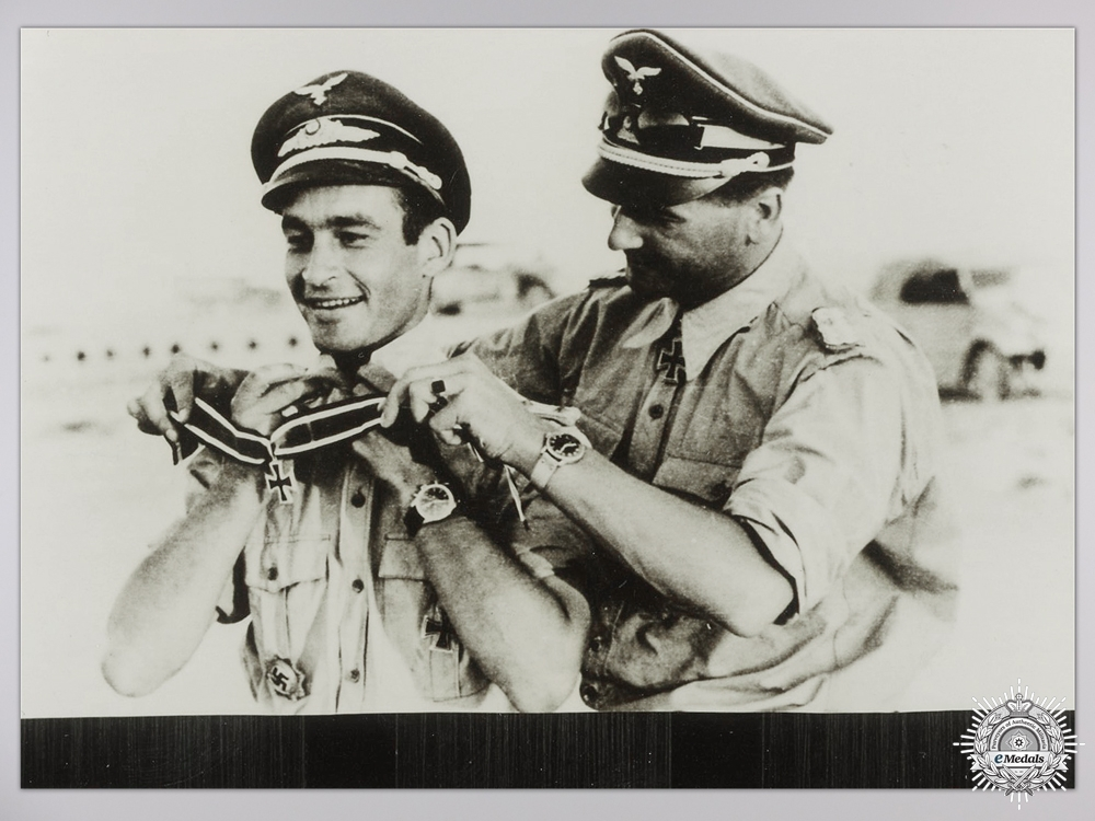 A Post War Signed Photograph of Knight's Cross Recipient; Kurt Kuhlmey
