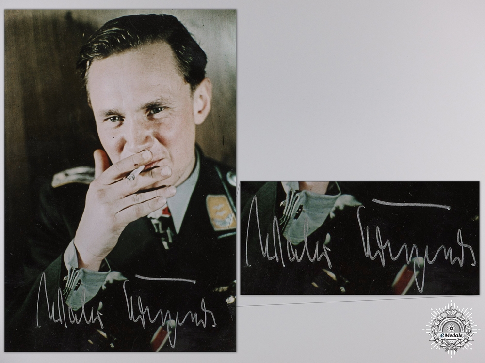 A Post War Signed Photograph of Knight's Cross Recipient; Walter Krupinski