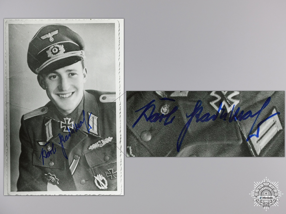 A Post War Signed Photograph of Knight's Cross Recipient; Radermacher
