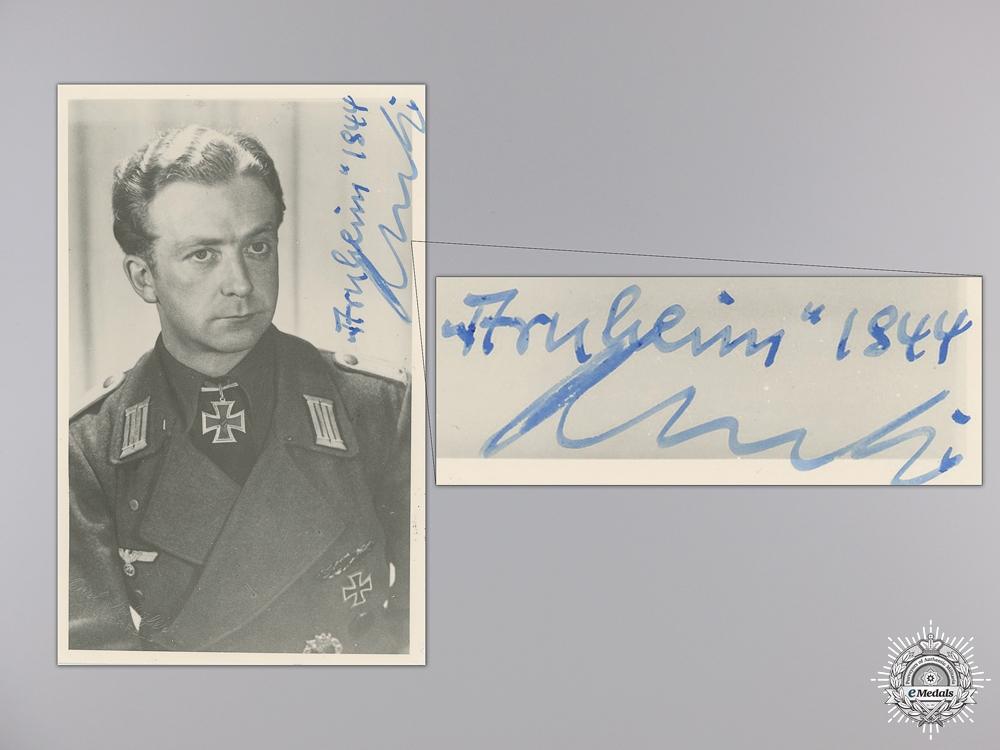 A Post War Signed Photograph of Knight's Cross Recipient; Kertz