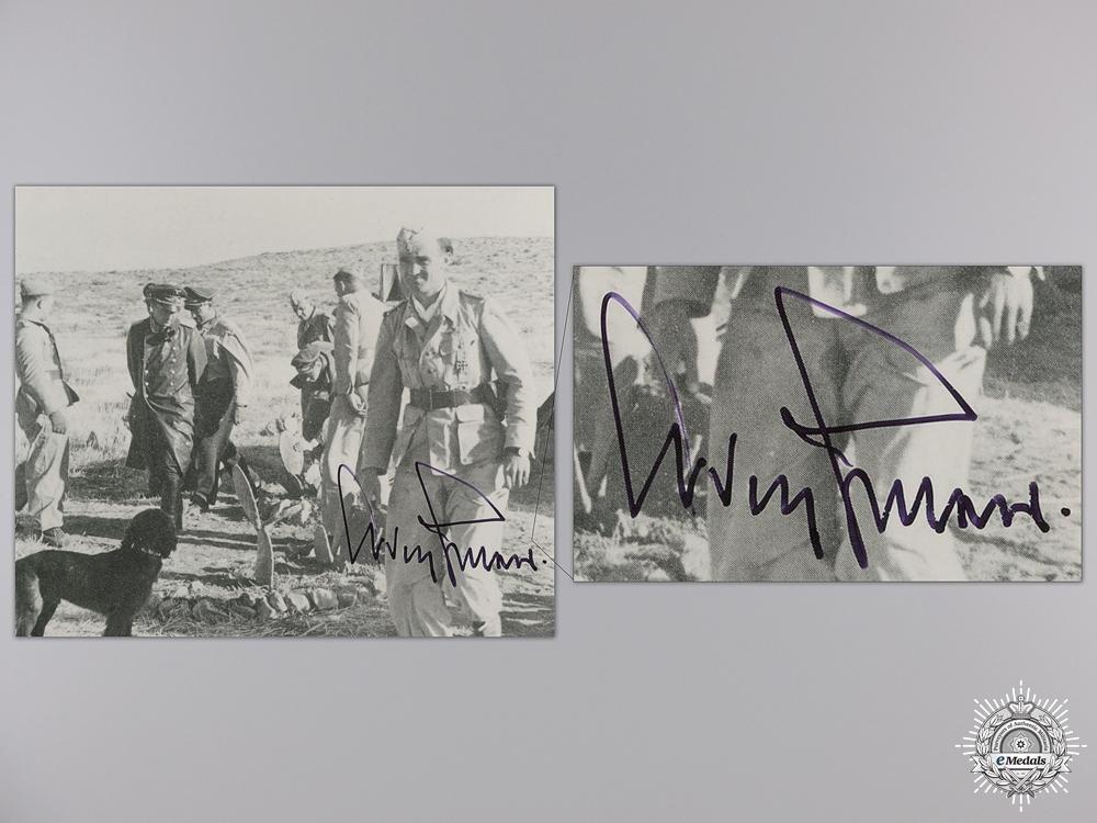 A Post War Signed Photograph of Knight's Cross Recipient; Galland