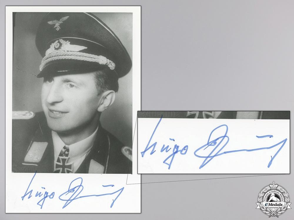 A Post War Signed Photograph of Knight's Cross Recipient; Paul