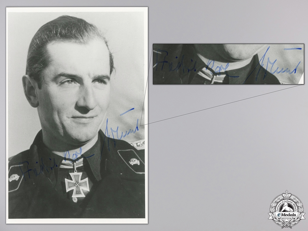 A Post War Signed Photograph of Knight's Cross Recipient; Nökel
