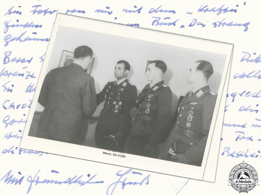 A Post War Signed Photograph of Knight's Cross Recipient; Späte