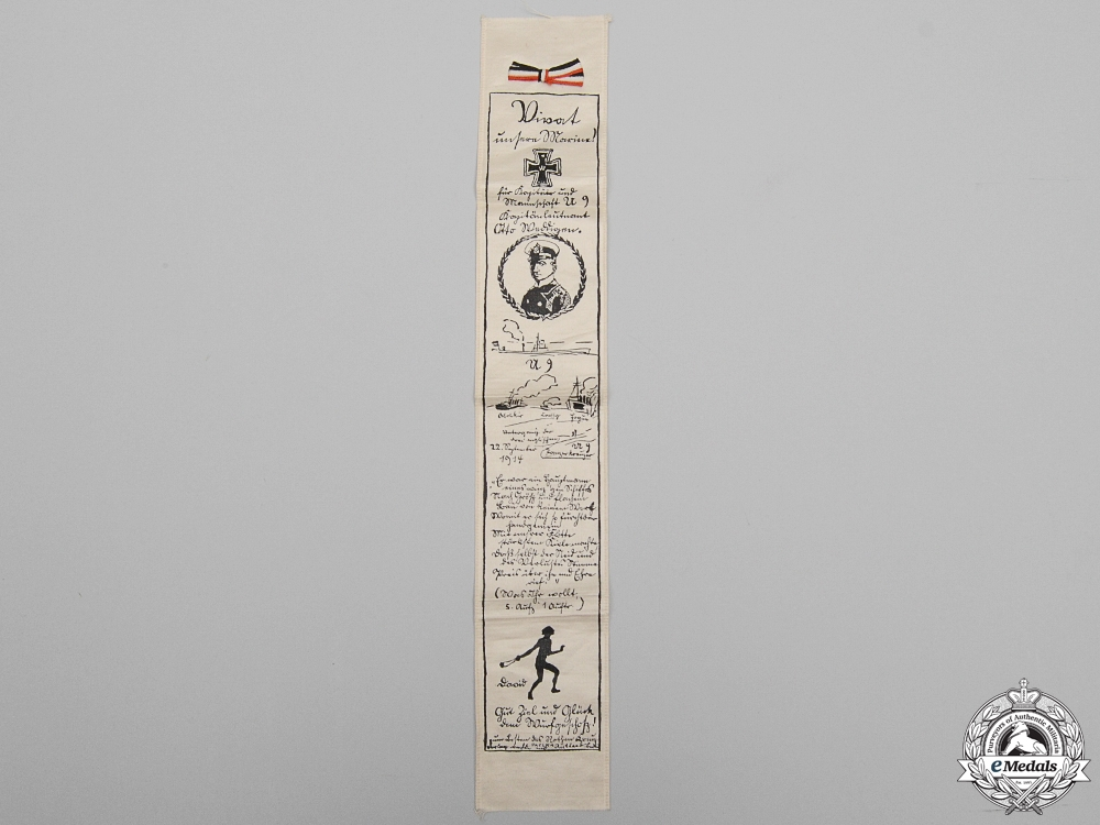 A Pour-le-Merite Recipient U9 Otto Weddigen Commemorative Ribbon