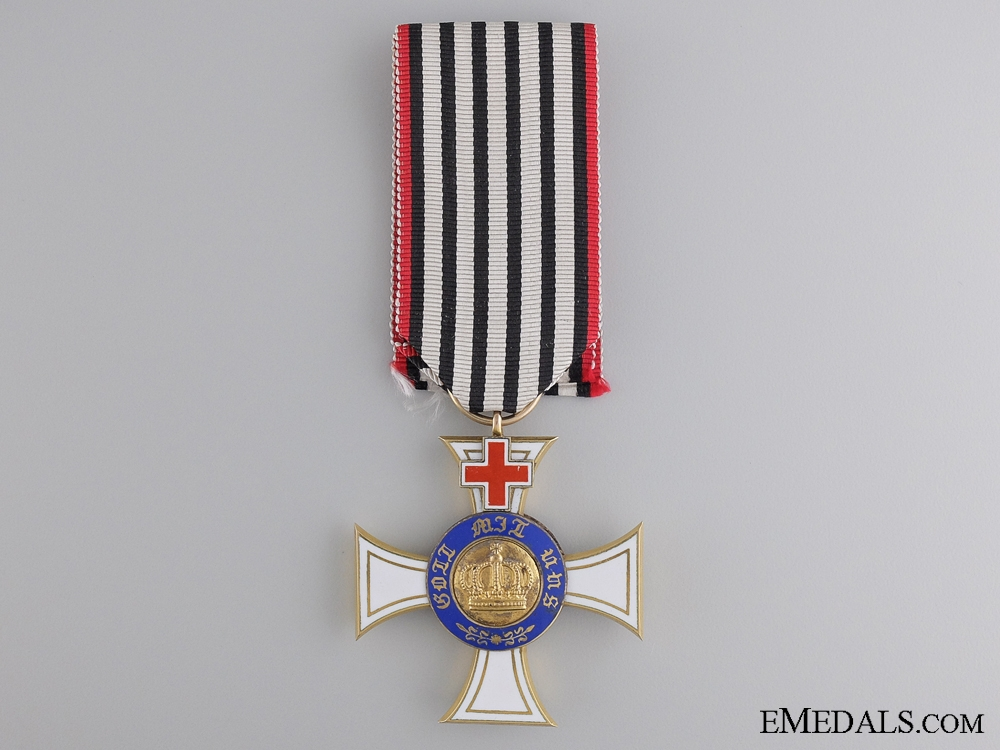 A Prussian Order of the Crown; Third Class with Geneva Cross