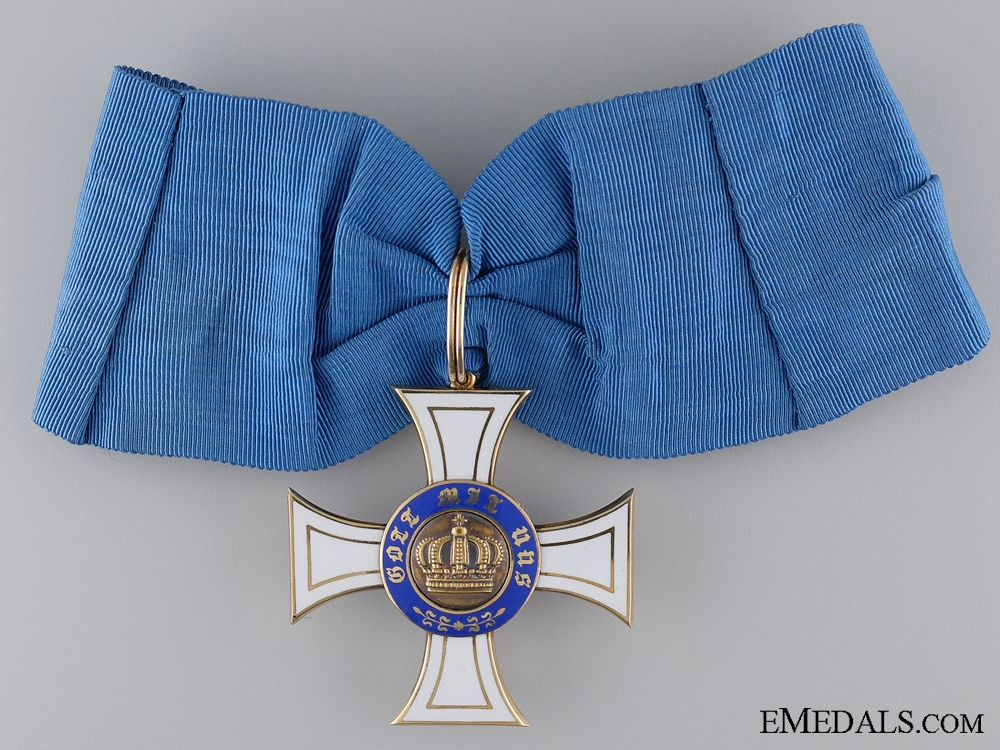 A Prussian Order of the Crown; Commander in Gold