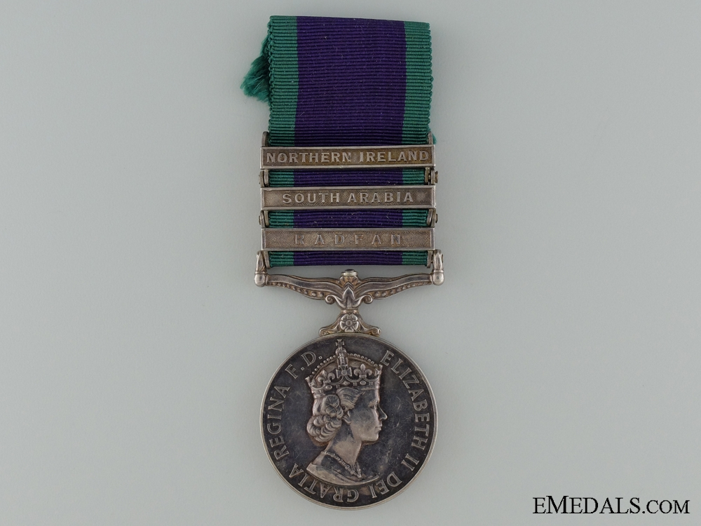 A QEII General Service Medal to the Royal Signal Corps