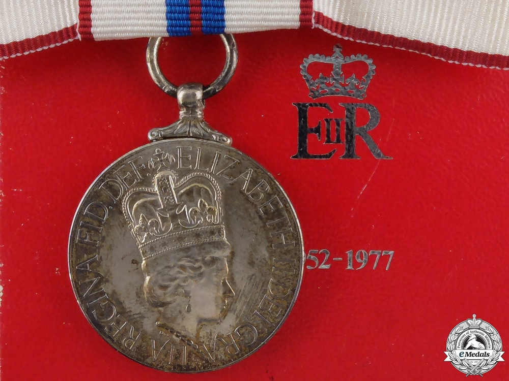 A Queen Elizabeth II Silver Jubilee Medal; Ladies Version with Box