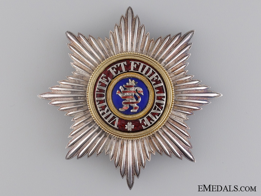 A Rare 1876-1918 Hessen House Order of the Golden Lion; Breast Star