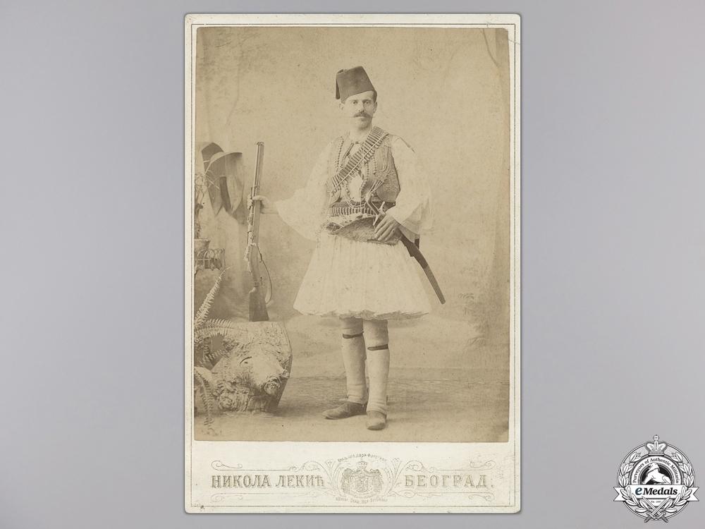 A Rare 1902 Cabinet Portrait of a Chetnik Fighter
