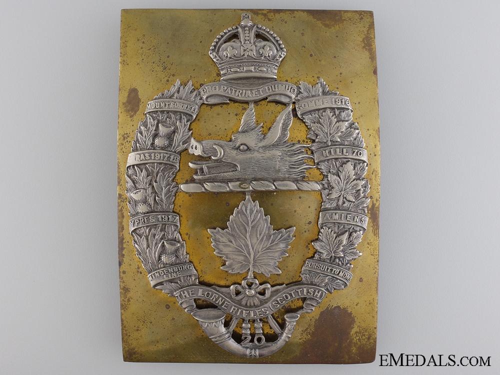 A Rare 20th Lorne Scotts Cross Belt Plate
