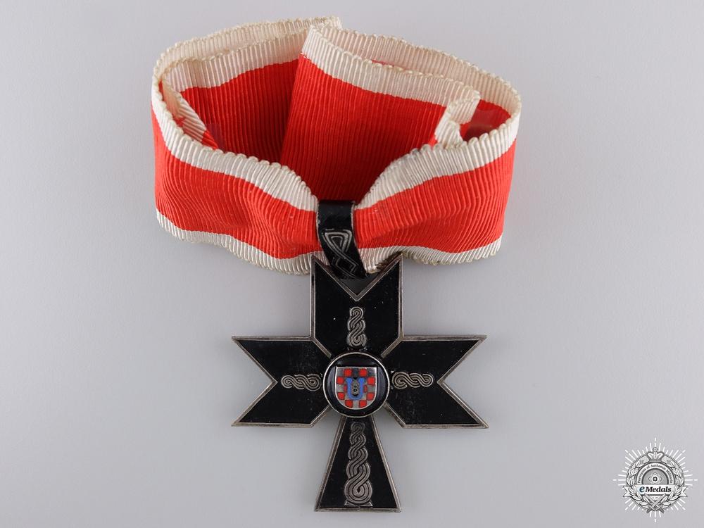 A Rare Croatian Order of Iron Trefoil; First Class
