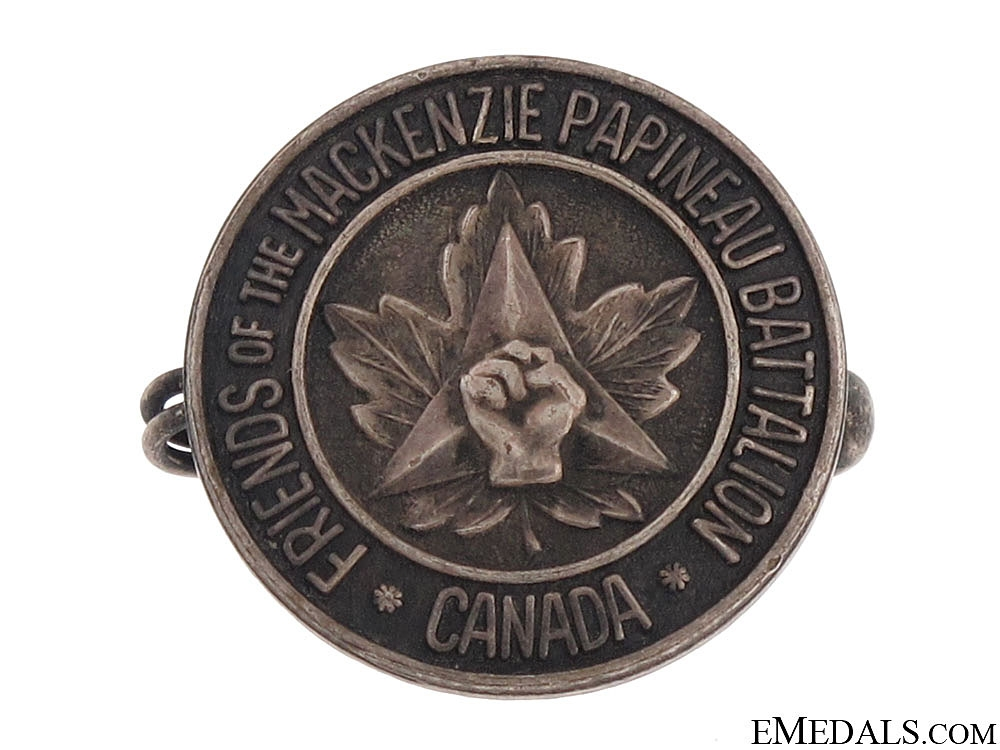 A Rare Silver Badge to the MacKenzie Papineau Battalion