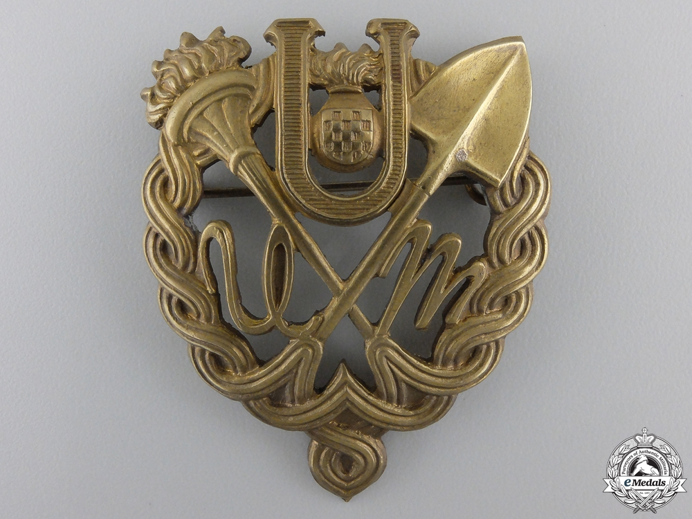 A Rare Ustasha Youth Gold Badge