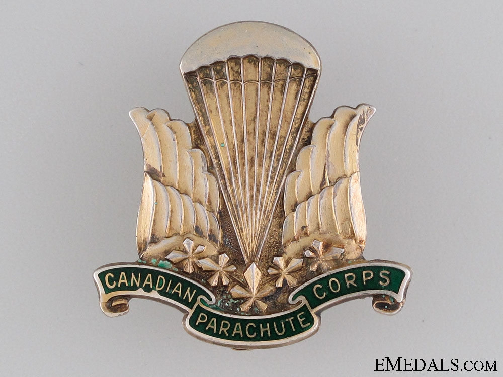 A Rare WWII Canadian Parachute Corps Pin