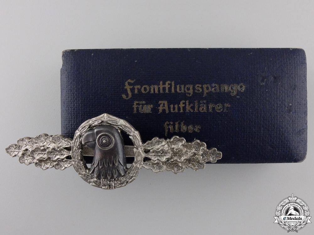 A Luftwaffe Reconnaissance Clasp; Silver Grade by JMME & SOHN, Berlin