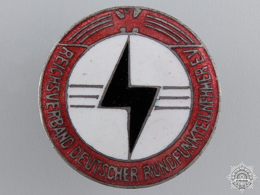 A Reich German Radio Listeners (RDR) Membership Badge