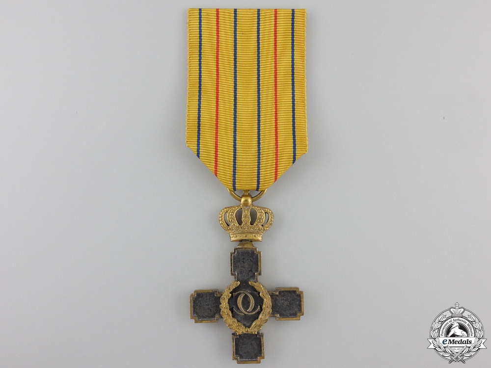 A Romanian Badge of Honour for Forty Years of Military Service for Officers