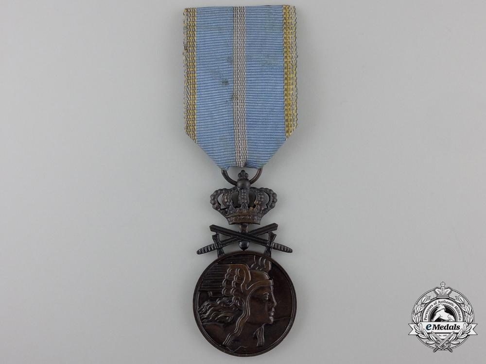 A Romanian Medal of Aeronautical Virtue; Bronze Grade