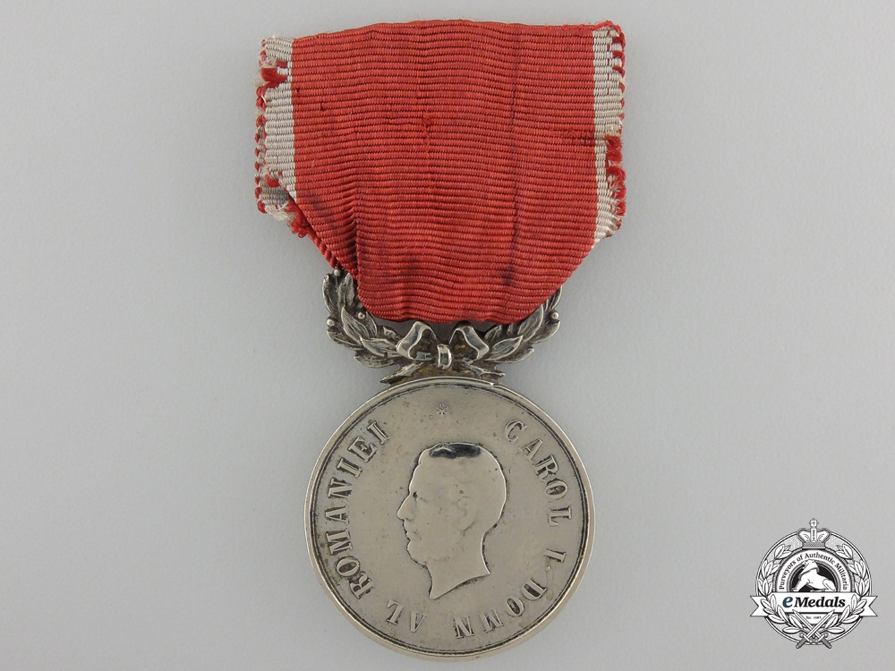 A Romanian Medal for Military Virtue; 2nd Class