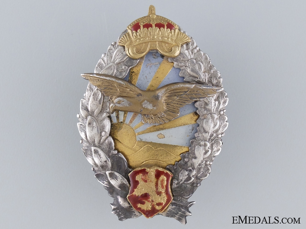 A Royal Bulgarian Pilot's Badge; WWII Period Issue