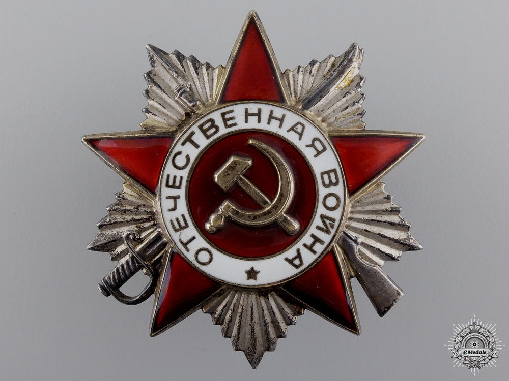 A Russian Order of the Patriotic War; 2nd Class