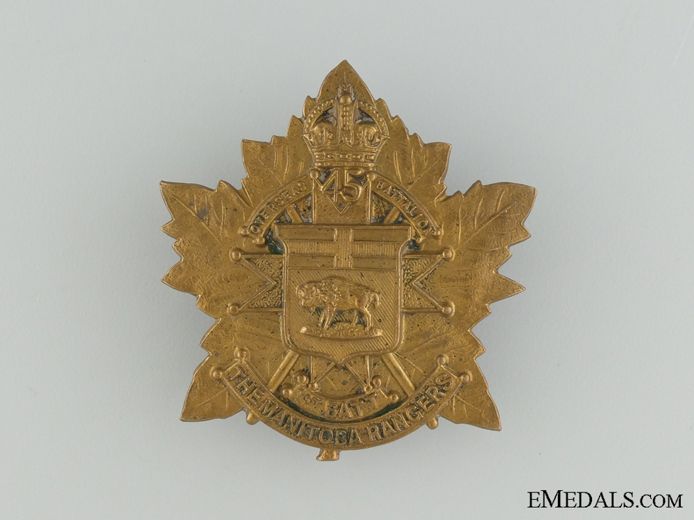 A Scarce Manitoba Rangers Cap badge