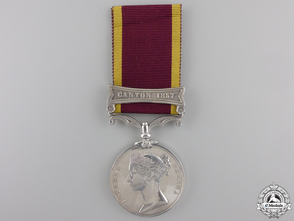 A Second China War Medal 1857-1860; Canton 1857