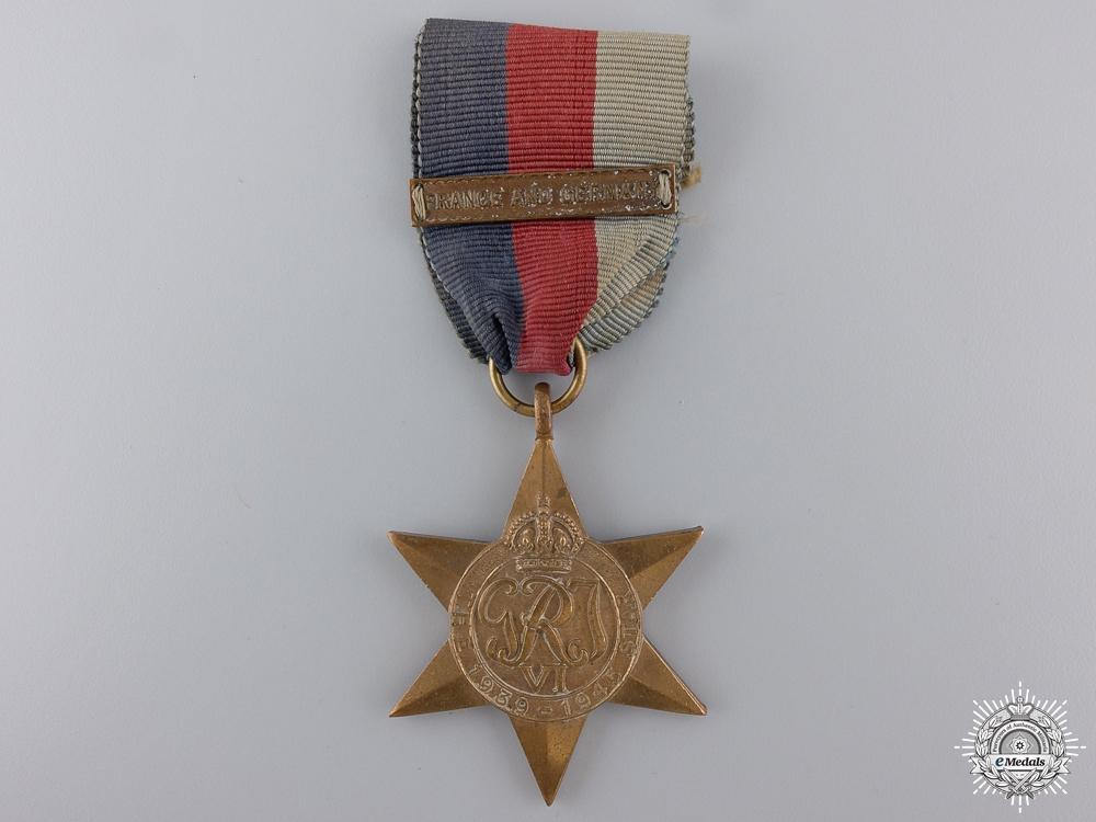 A Second War 1939-1945 Star with France and Germany Clasp