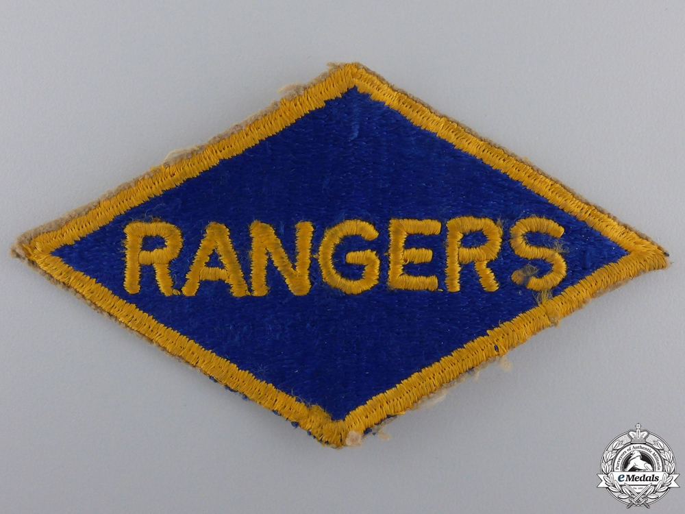 A Second War 5th Ranger Battalion Shoulder Flash; D-Day