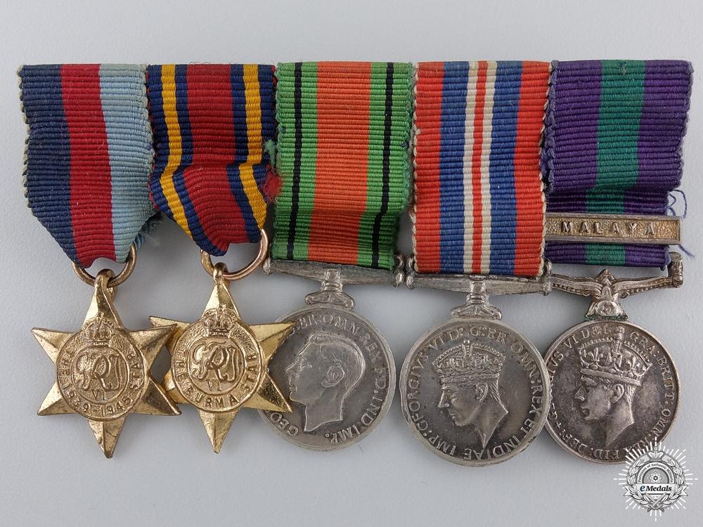 A Second War & Malaya Miniature Medal Group