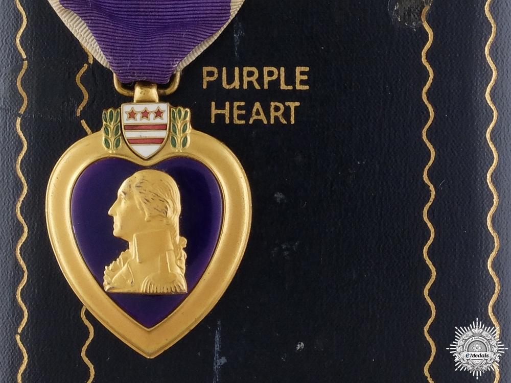 A Second War American Purple Heart to George W. Schoenwald
