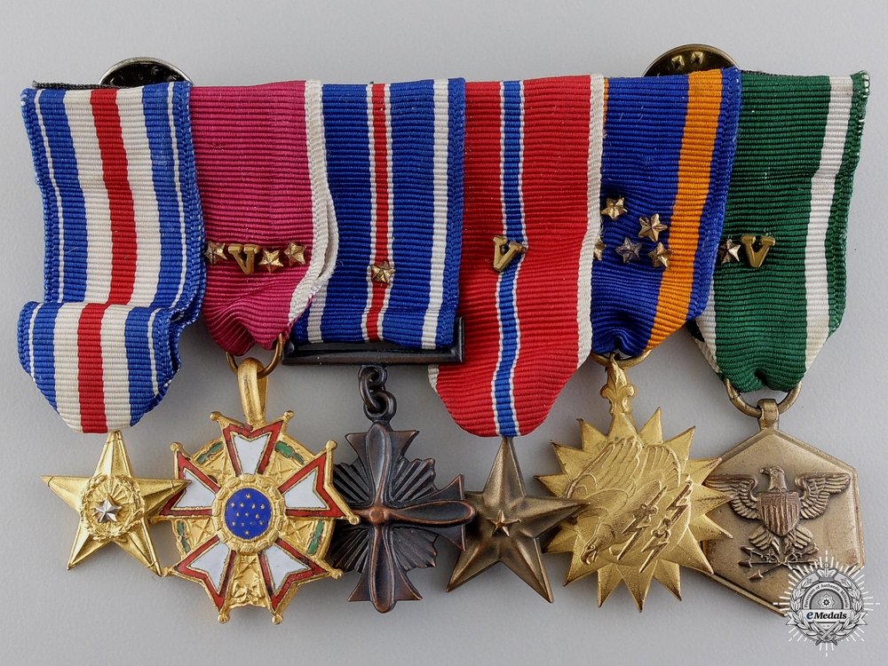 A Second War American Aviator's Miniature Medal Bar