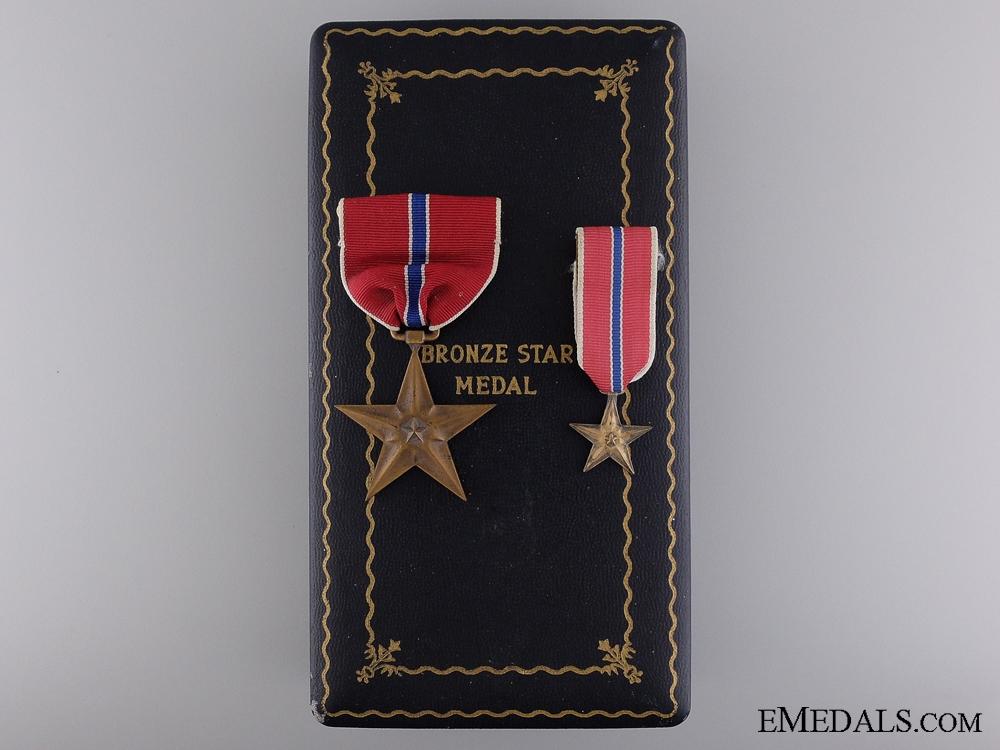 A Second War Bronze Star to Stewart M. Anderson