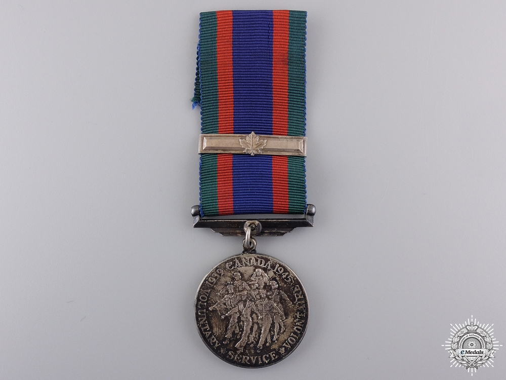 A Second War Canadian Volunteer Service Medal with Bar