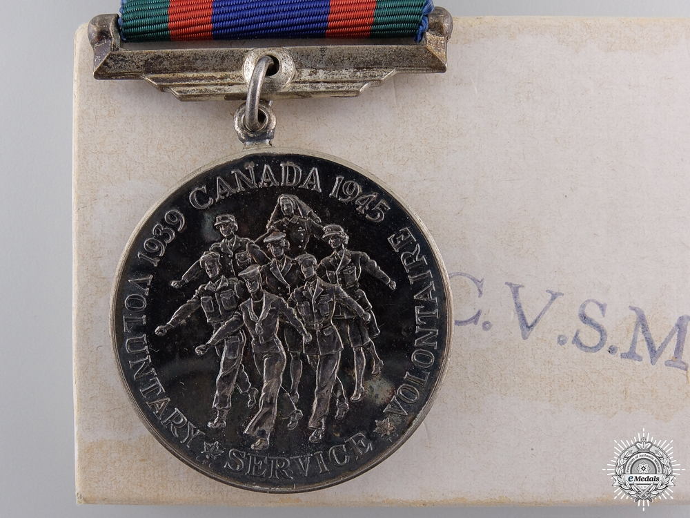 A Second War Canadian Volunteer Service Medal with Box