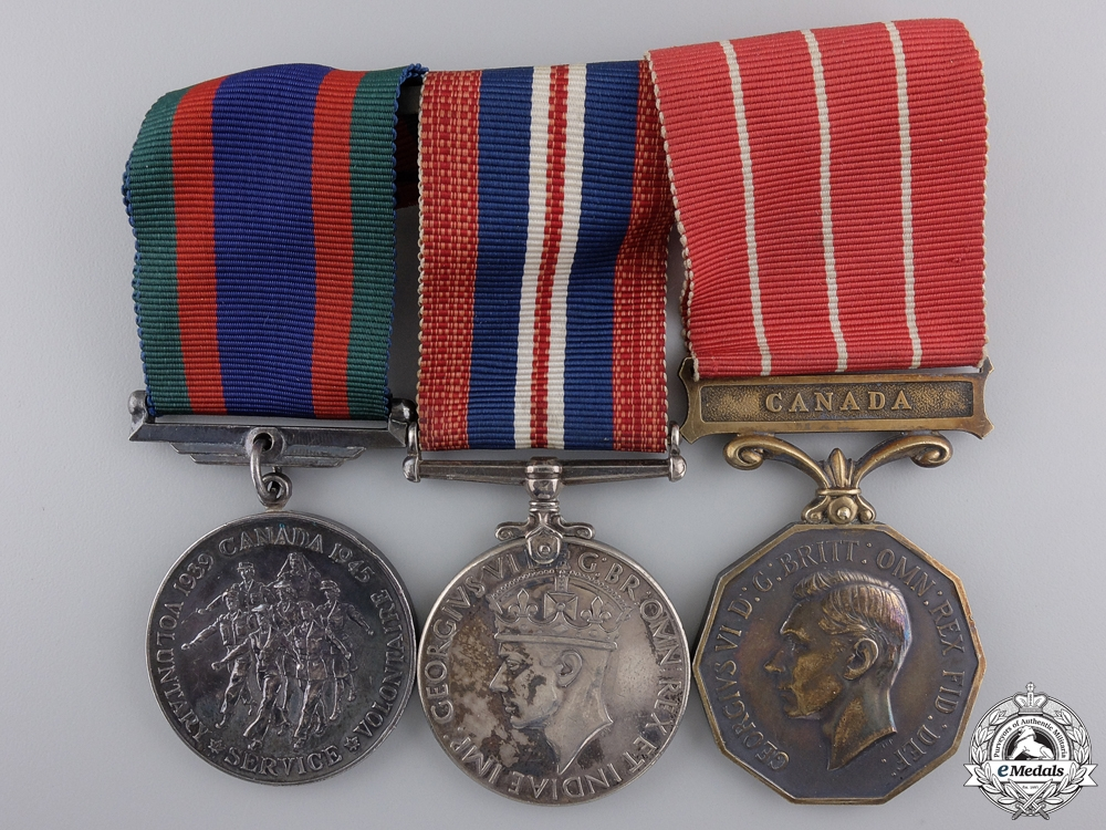 A Second War Canadian Forces Decoration Medal Group