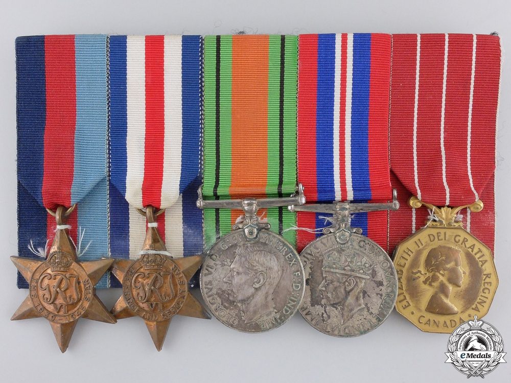 A Second War Canadian Forces Decoration Medal Bar