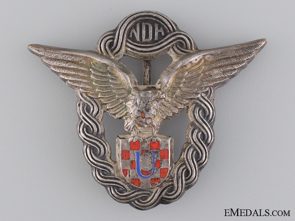 A Second War Croatian Pilot's Badge by Braća Knaus