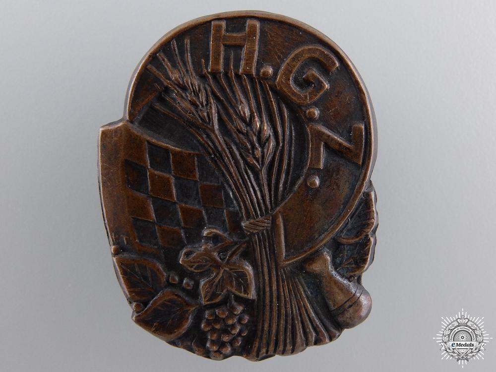 A Second War Croatian Guard Unit (H.G.Z.) Badge