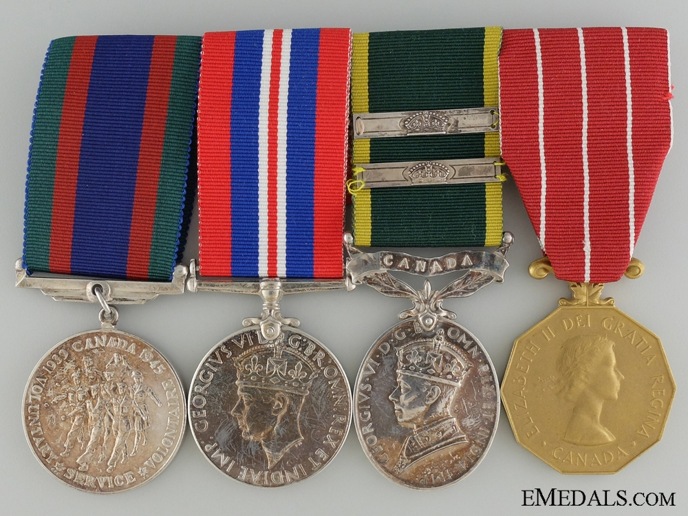 A Second War Efficiency Medal Bar to the Royal Canadian Artillery